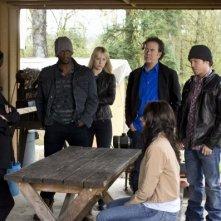 Il cast della serie nell'episodio 'The Hot Potato Job' di Leverage