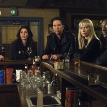 Il cast di Leverage nell'episodio 'The 15 Minutes Job' di Leverage