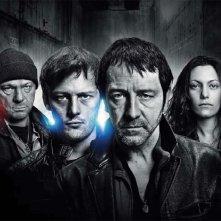 Una foto promozionale del cast di Braquo