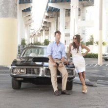 Jeffrey Donovan e Gabrielle Anwar nell'episodio 'No Good Deed' di Burn Notice
