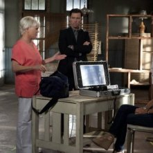 Jeffrey Donovan, Gabrielle Anwar, Sharon Gless e Bruce Campbell nell'episodio 'Bloodlines' di Burn Notice