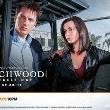 Un wallpaper con Eve Myles e John Barrowman per la stagione 4 di Torchwood