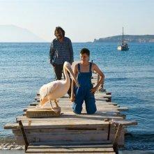 Emir Kusturica e Thibault Le Guellec, padre e figlio nel film Nicostratos the Pelican:
