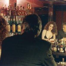 Francesca Dellera con Alain Delon sul set de L'orso di peluche