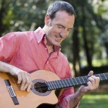 Marcello Appignani alla chitarra a Villa Borghese (Roma)