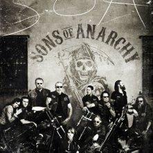 Un poster della stagione 4 di Sons of Anarchy