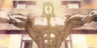 Una sequenza d'azione dal film Ken il guerriero - La Leggenda del vero salvatore