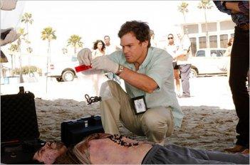 Michael C. Hall in una prima foto della premiere della stagione 6 di Dexter