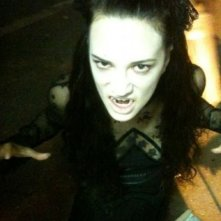 Asia Argento sul set di Dracula 3D