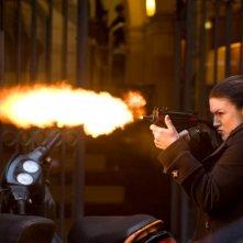 Ecco Gina Carano in azione in una scena di Haywire