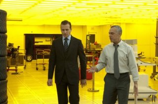 Titus Welliver e Gabriel Macht nell'episodio 'Inside Track' di Suits