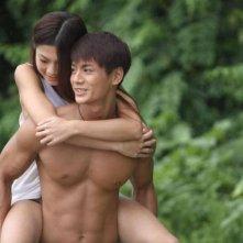 Chrissie Chau con Chung Him Law in Beach Spike