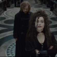 Emma Watson e Rupert Grint (trasformati dalla pozione polisucco) in Harry Potter e il doni della morte, parte 2