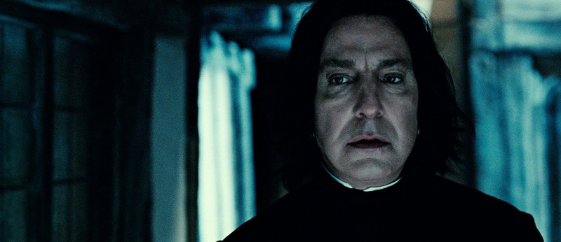 Alan Rickman in una scena di Harry Potter e i doni della morte parte 2