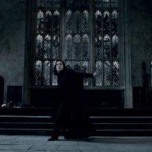 Alan Rickman in una sequenza di Harry Potter e i doni della morte parte 2
