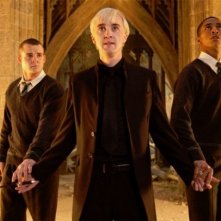 Josh Herdman, Tom Felton e Louis Cordice in Harry Potter e i doni della morte parte 2