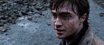 Primo piano di Daniel Radcliffe dal film Harry Potter e i doni della morte - parte 2