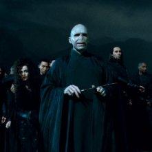 Voldemort (Ralph Fiennes) alla resa dei conti in Harry Potter e i doni della morte - parte 2