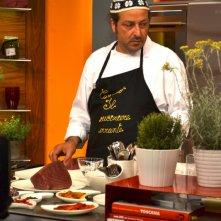 Carmelo Chiaramonte durante il programma La cucina di Carmelo Chiaramonte
