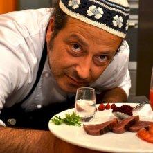 Lo chef Carmelo Chiaramonte durante il programma La cucina di Carmelo Chiaramonte