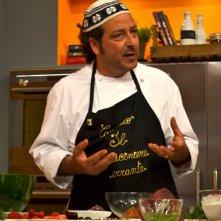 Lo chef Carmelo Chiaramonte durante il suo programma La cucina di Carmelo Chiaramonte