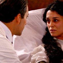Giuseppe Moscati: Paola Casella in una scena della fiction con Giuseppe Fiorello