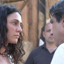 Paola Casella in una sequenza del film Quel che resta di Laszlo Barbo con Luca Lionello