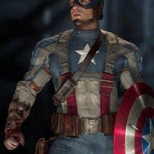 Chris Evans nei 'panni' di Captain America: il primo vendicatore