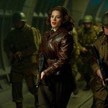Hayley Atwell in una sequenza di Captain America: il primo vendicatore