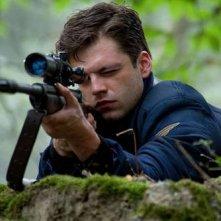 Sebastian Stan in una immagine di Captain America: il primo vendicatore