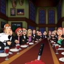 Il cast de I Griffin in una scena dell'episodio And Then There Were Fewer
