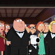 Il cast della serie-tv I Griffin in una scena dell'episodio And Then There Were Fewer