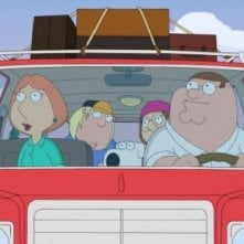 La famiglia al completo in una scena dell'episodio And Then There Were Fewer della serie I Griffin