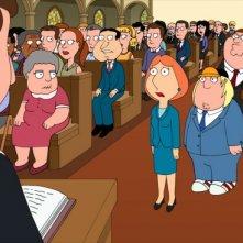 Una scena dell'episodio And I'm Joyce Kinney della serie-tv I Griffin