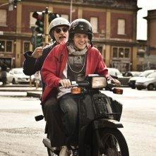 Filippo Scicchitano e Fabrizio Bentivoglio in una bella immagine di Scialla!