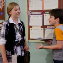 Zachary Gordon e Chloe Moretz in un'immagine di Diary of a Wimpy Kid con