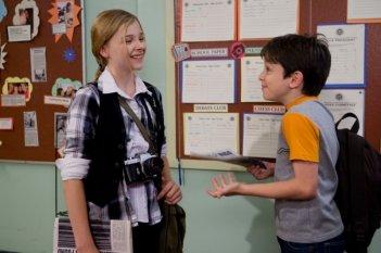 Zachary Gordon e Chloe Moretz in un'immagine di Diary of a Wimpy Kid con