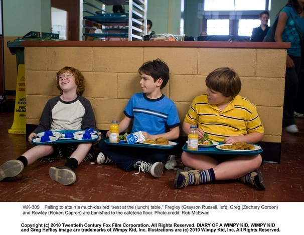 Zachary Gordon Tra Grayson Russell E Robert Capron In Una Scena Di Diary Of A Wimpy Kid Con 209724