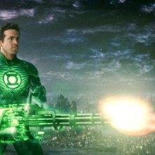 Una immagine di Ryan Reynolds nei panni di Lanterna Verde