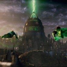 Una spettacolare sequenza del film Lanterna Verde (2011)