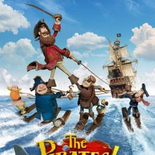 Poster del film di animazione The Pirates! Band of Misfits