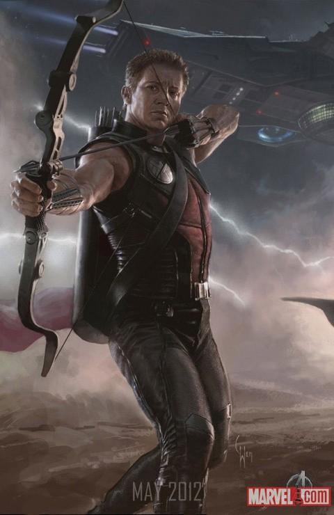 Poster Illustrato Di Jeremy Renner Alias Hawkeye In The Avengers I Vendicatori 209903