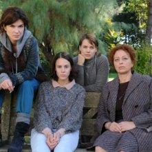 Andrea Osvárt, Monica Barladeanu, Chiara Martegiani e Marina Pennafina in una foto promozionale del drammatico Maternity Blues
