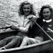 Diana Herbert e Marilyn Monroe sul set di Scudda Hoo! Scudda Hay!
