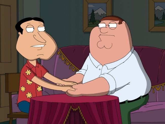 Quagmire E Peter In Una Scena Dell Episodio Extra Large Medium Della Serie Tv I Griffin 210018