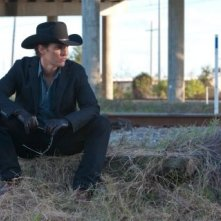 Ancora una cupa immagine del killer su commissione Matthew McConaughey in Killer Joe