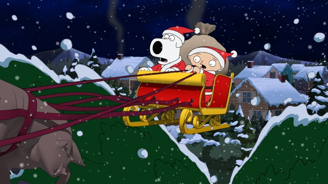 Brian E Stewie Sulla Slitta Di Babbo Natale In Road To The North Pole De I Griffin 210290