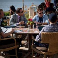 Kevin Connolly, Adrian Grenier, Kevin Dillon, Jerry Ferrara, Scott Caan e Jeremy Piven in una scena dell'episodio Home Sweet Home dell'ottava stagione di Entourage