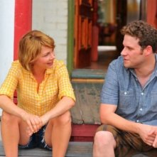 Michelle Williams e Seth rogen discutono amichevolmente in Take This Waltz
