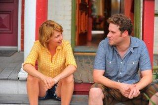 Michelle Williams e Seth rogen discutono amichevolmente in Take This Waltz
